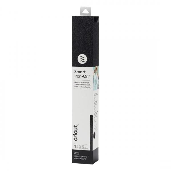 Smart Iron-On Glitter Black 0,9 m