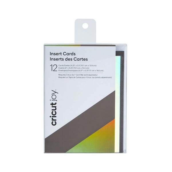 Cricut Joy™ Insert Cards, Gray/Silver Holographic