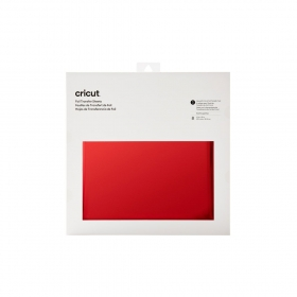 Cricut Foil Transfer Sheets 30x30 cm Red