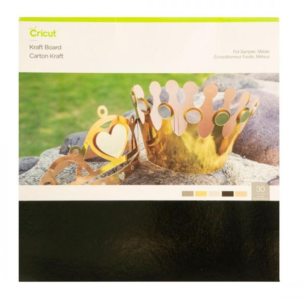 Cricut Kraft Board Foil Metals Sampler