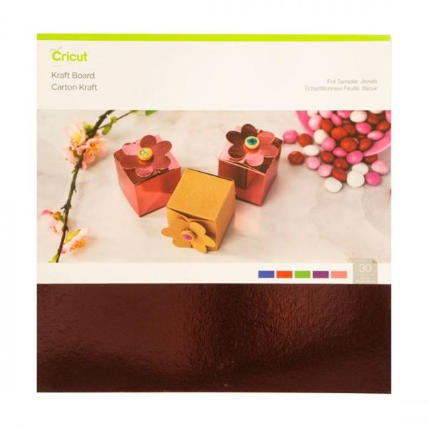 Cricut Kraft Board Foil Jewels Sampler