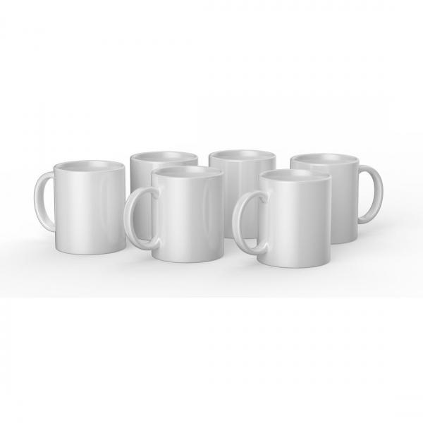 Cricut valge keraamiline tass 350 ml (6 tk)