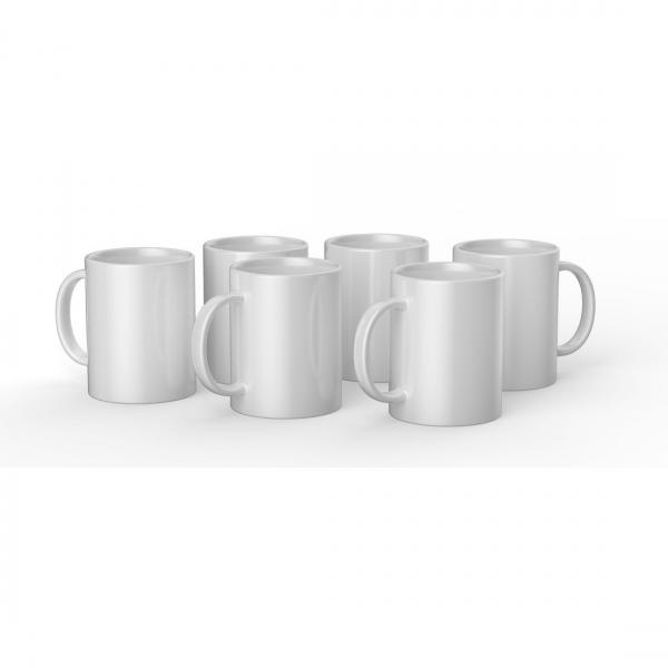 Cricut valge keraamiline tass 425 ml (6 tk)