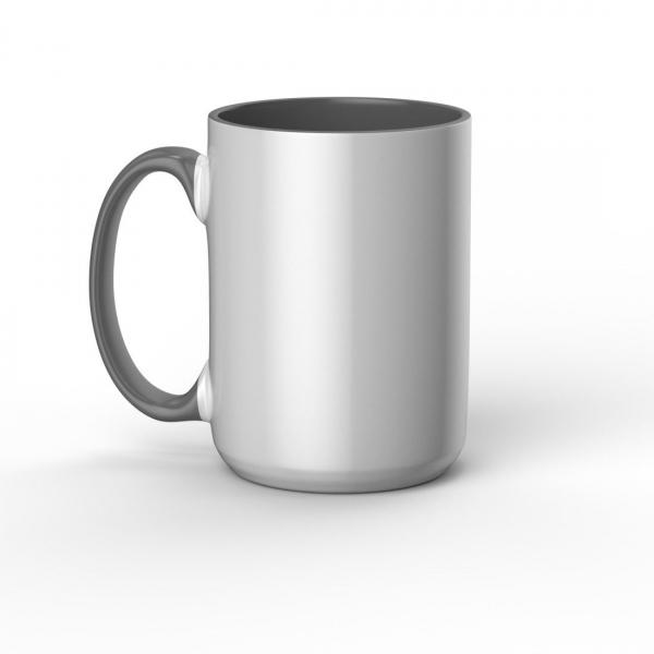 Cricut Beveled Ceramic Mug White/Grey 425 ml