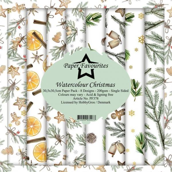 Paper Favourites Watercolour Christmas 30 x 30 cm