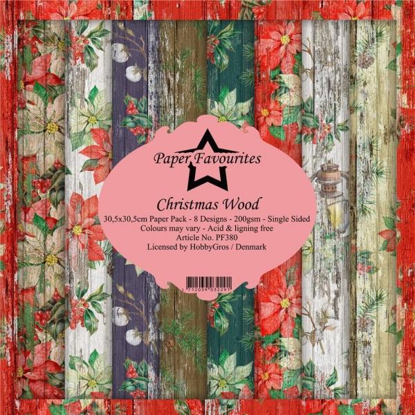 Paper Favourites Christmas Wood 30 x 30 cm