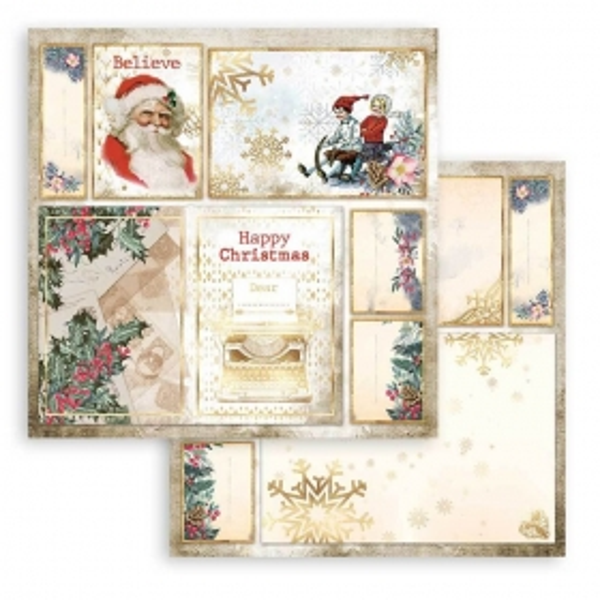 Stamperia Romantic Christmas Cards Santa Claus