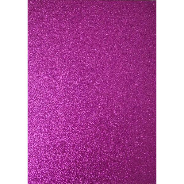 Kahepoolne glitterkartong A4