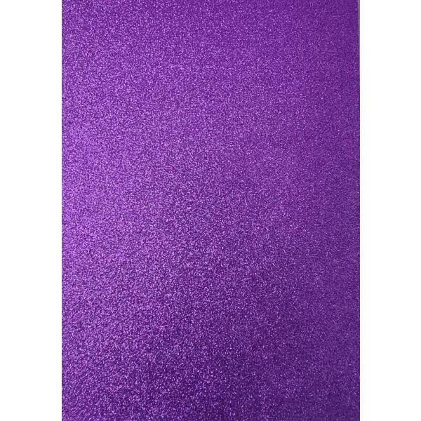 Kahepoolne glitterkartong A4 lilla