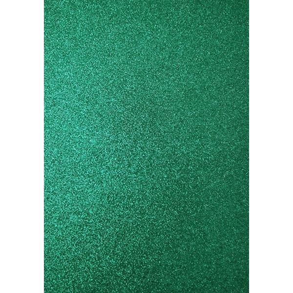 Kahepoolne glitterkartong A4 roheline