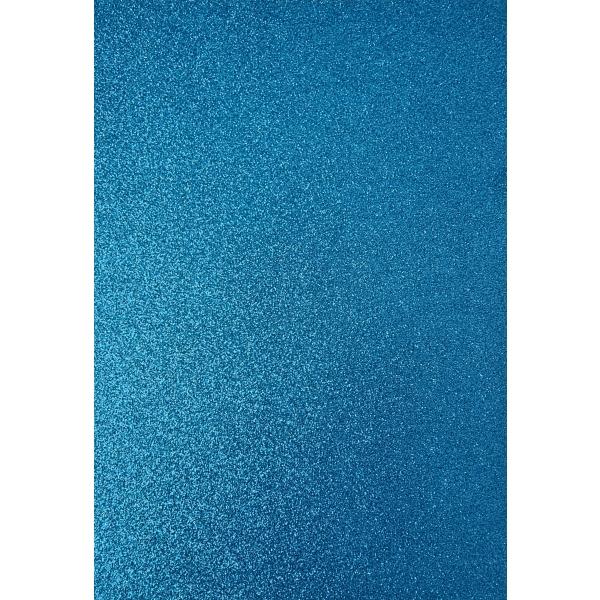 Kahepoolne glitterkartong A4 sinine
