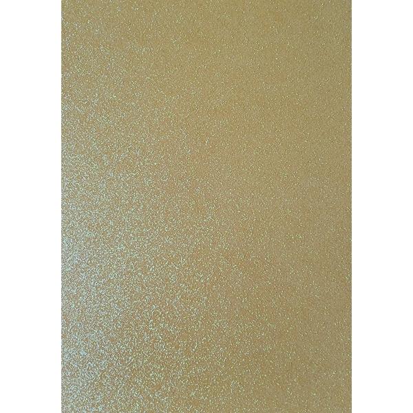 Kahepoolne glitterkartong A4 kollane