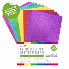 Double Sided Glitter Bumper Pack A4 Rainbow Bright