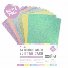 Double Sided Glitter Bumper Pack A4 Rainbow Pastels