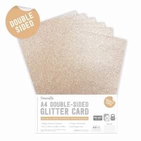 Double Sided Glitter Pack A4 Rose Gold