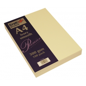 Premium Collection A4 Ivory Smooth Paper Pack