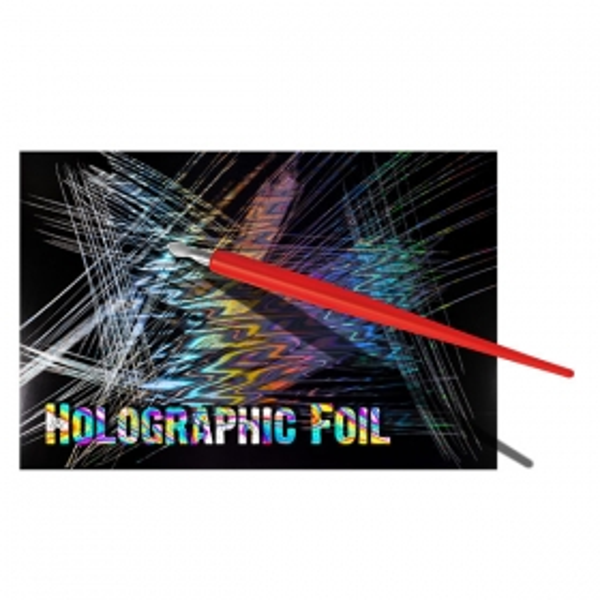 Holograafilise fooliumiga kraapelehed 305 × 229 mm