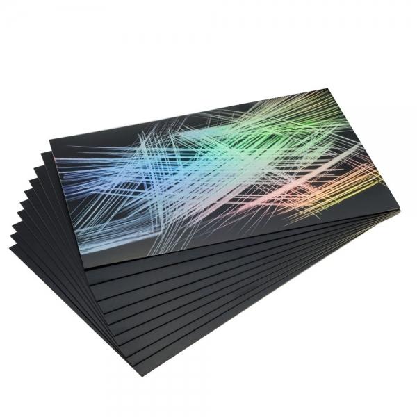 Vikerkaare värvides fooliumkraapelehed 305 × 229 mm