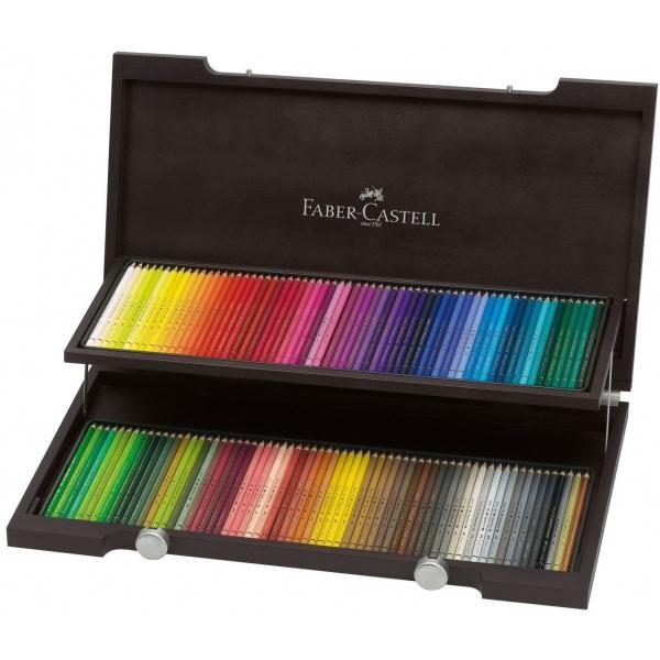 Faber Castell värvipliiatsid puidust kastis 120 tk