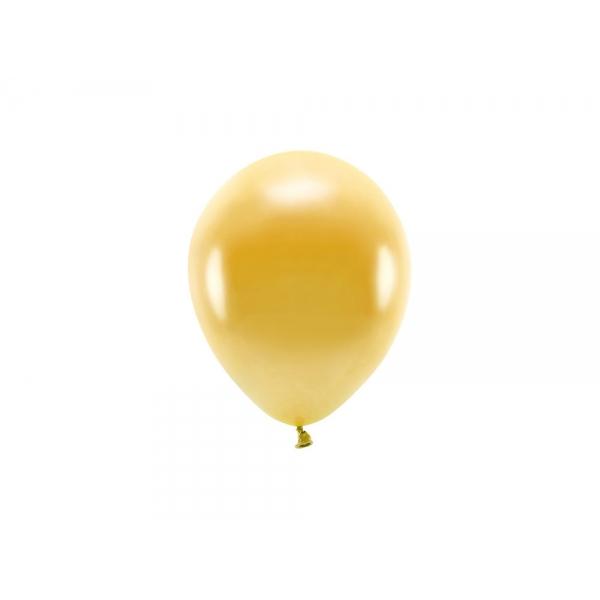 ECO õhupallid Kuldne Metallik (10 tk)