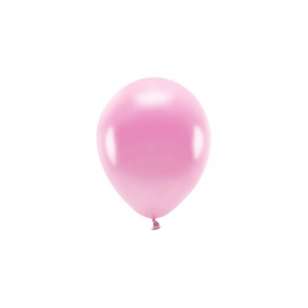ECO õhupallid Roosa Metallik (10 tk)
