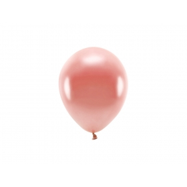 ECO õhupallid Roosa Kuld Metallik (10 tk)