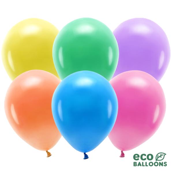 ECO õhupallid Erinevad värvid Metallik (100 tk)