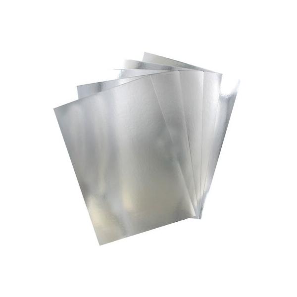 Premium Mirror Card A4 Silver