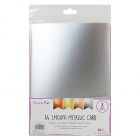 Dovecraft Metallic Smooth A4 Card Pack